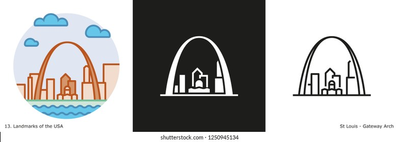 Gateway Arch Icon - St Louis