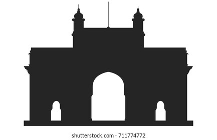 Gateway of India silhouette