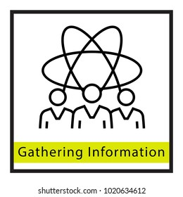 Gathering Information Vector Icon