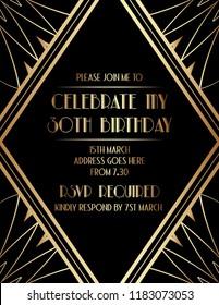 Gatsby Elegant Art Deco Invitation Design