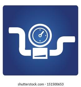 gauge, industrial valve symbol