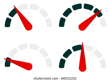 Gauge level-indicator symbol set from low to high