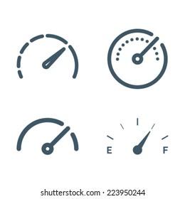 Gauge Meter Icon Symbol Set