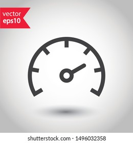 Gauge vector icon. Speedometer measurement sign. Vector meter flat icon.