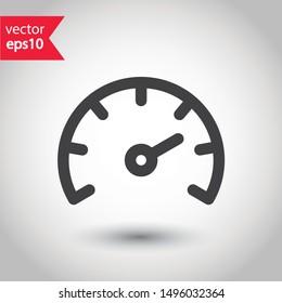 Gauge vector icon. Speedometer measurement sign. Vector meter flat icon.