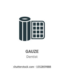 Gauze vector icon on white background. Flat vector gauze icon symbol sign from modern dentist collection for mobile concept and web apps design.
