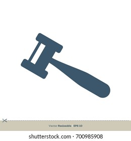 Gavel Auction Icon Logo Template