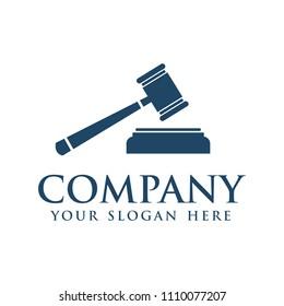 Gavel icon logo, Hammer judge icon vector illustration