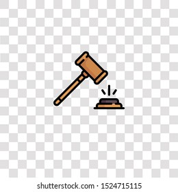 gavel icon sign and symbol. gavel color icon for website design and mobile app development. Simple Element from ethics collection for mobile concept and web apps icon.