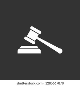 Gavel icon, gavel sign vector