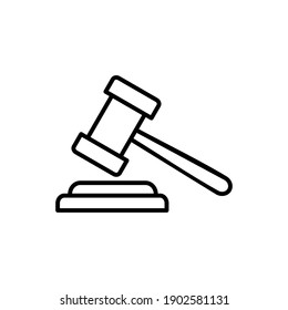 Gavel icon vector. judge gavel icon vector. law icon vector. auction hammer