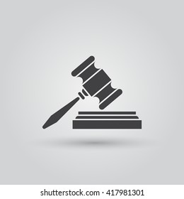 gavel icon vector, solid logo illustration, pictogram isolated on gray