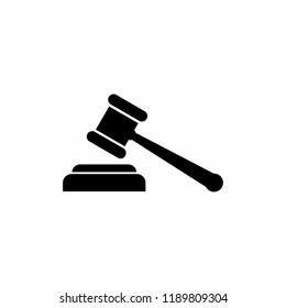 Gavel icon vector. symbol for web site Computer and mobile vector.