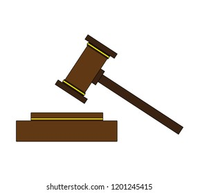 The gavel of the judge.