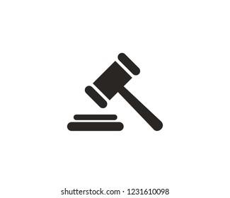 Gavel, judge hammer icon sign symbol