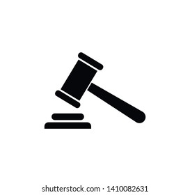Gavel law icon vector logo template