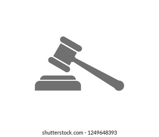 Gavel Logo, gavel icon vector. symbol for web site Computer and mobile vector.