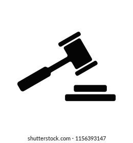 Gavel logo. Justice icon. Law symbol. Vector eps 08.