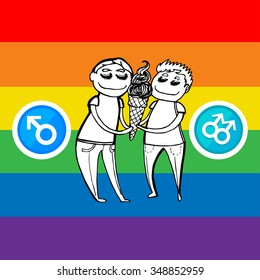 Gay couple, gay love