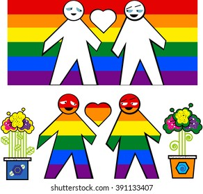 gay couple symbol spring flowers