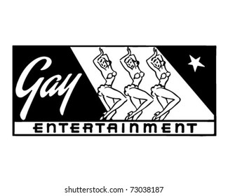 Gay Entertainment 2 - Retro Ad Art Banner