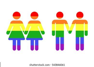 Gay LGBT rainbow icons white