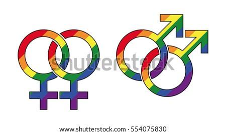 Lesbo suku puoli symbolit