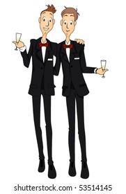 Gay Marriage - Vector