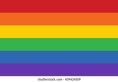 Gay pride movement rainbow banner flag flat vector illustration for apps and websites