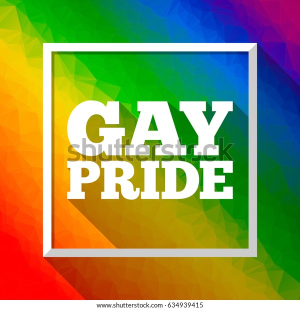 Gay Pride rainbow colorful abstract background with triangular shapes. Vector illustration in LGBT flag colors. Symbol of peace and tolerance. Modern template for Pride Month, parade, special events