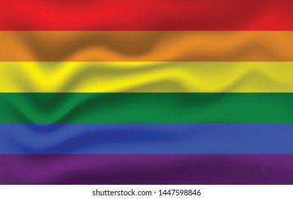 Gay vector flag or LGBT. Rainbow flag. Pride symbol.
