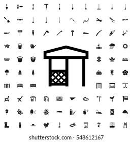 gazebo icon illustration isolated vector sign symbol