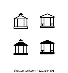 Gazebo Icon Logo Vector Symbol. Temple Icon