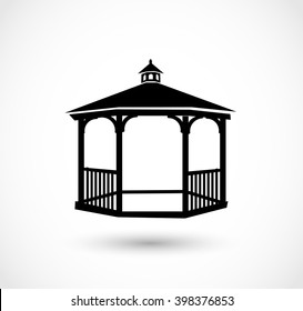 Gazebo icon vector