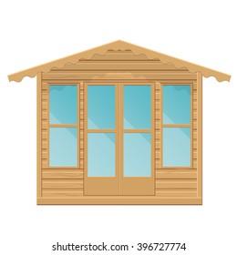 Gazebo vector illustration.Summerhouse isolated on a white background