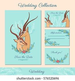 828b05453 Watercolor Gazelle Hand Drawn Cartoon Painting Stock Illustration ...