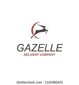 Gazelle. Delivery company logo. Vector illustration.