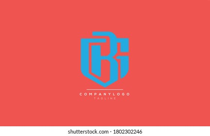 GB BG abstract initials monogram letter text alphabet logo design