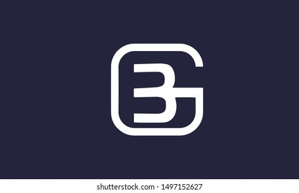 GB or BG and B or G abstract letter mark vector logo monogram template