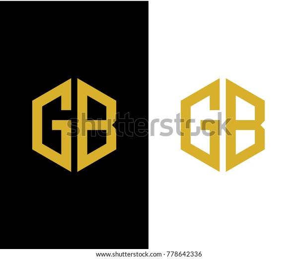 Gb Initial Hexagon Icon Letter Logo Stock Vector (Royalty