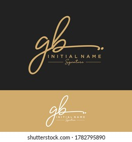 GB Initial letter handwriting and signature logo.