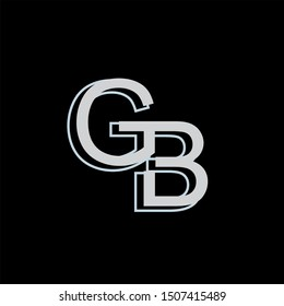 GB Letter monogram with abstrac concept style design