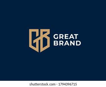 GB. Monogram of Two letters G&B. Luxury, simple, minimal and elegant GB logo design. Vector illustration template.
