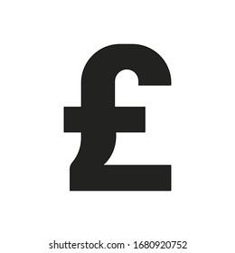GBP outline icon. Symbol, logo illustration for mobile concept and web design.