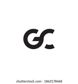 GC or CG letter logo design.