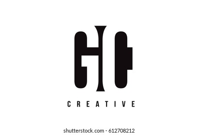 GC G C White Letter Logo Design with Black Square Vector Illustration Template.