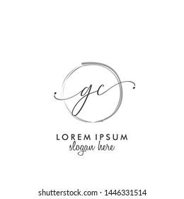 GC Initial beauty monogram logo vector