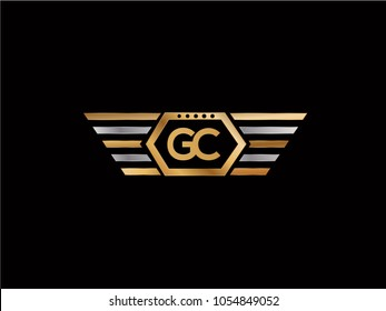 GC initial box shape Logo designs template