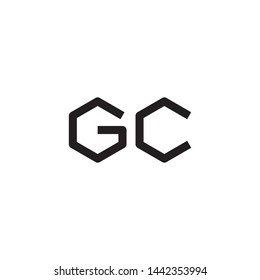 GC initial letter logo template vector icon design