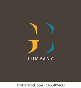 GC logo design. Company logo. Monogram GC.